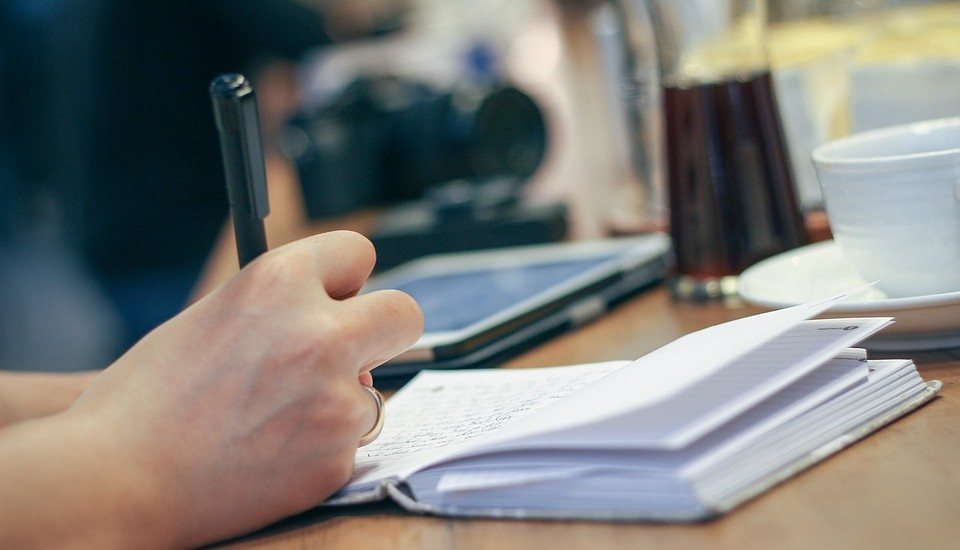 Hand Composition Desk Adult Document Business Cup