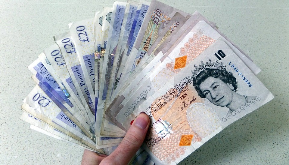Pounds Notes Money Sterling Currency Cash