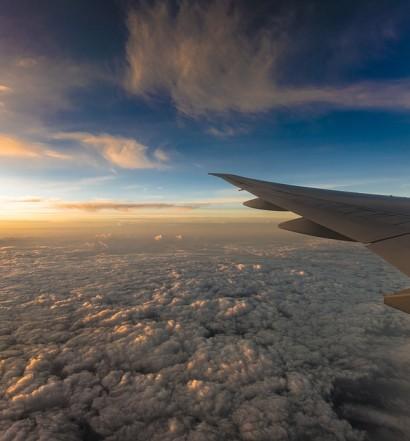 Travel Sunset Plane Horizon Success Airplane Trip