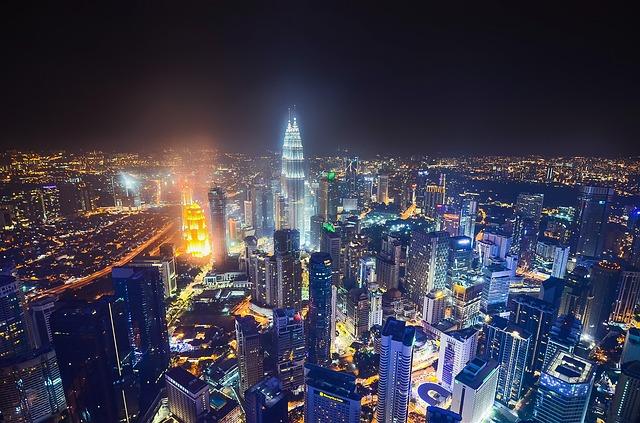 Nightlife Cityscape Kuala Lumpur City Malaysia